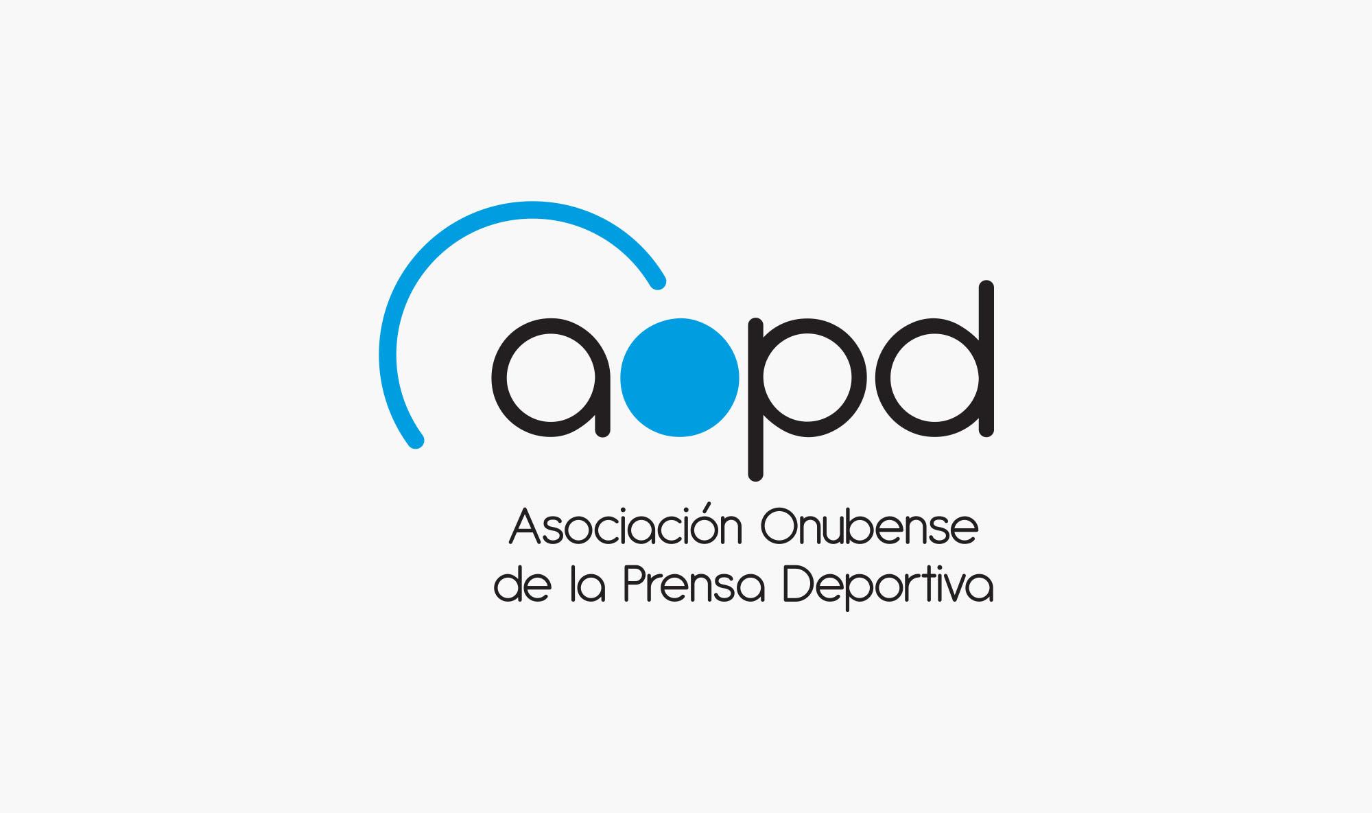 Logotipo de la Asociación Onubense de la Prensa Deportiva