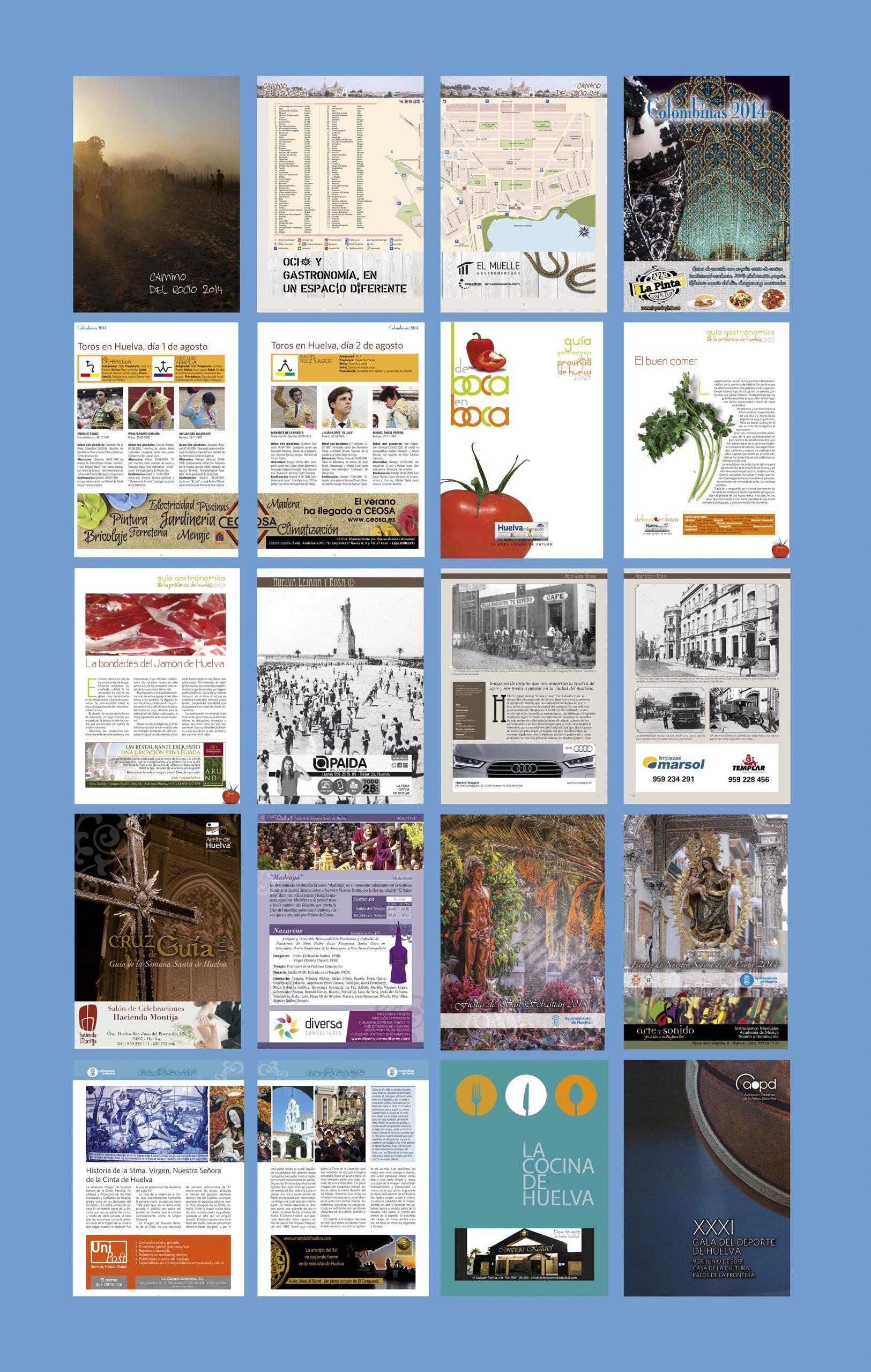 Proyecto de diseño editorial de otras revistas editadas en Huelva